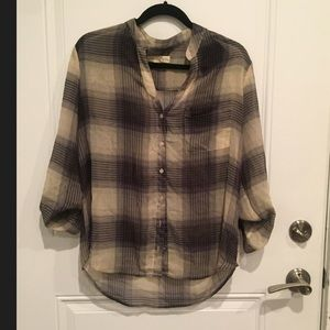 Urban Outfitters plaid button down blouse